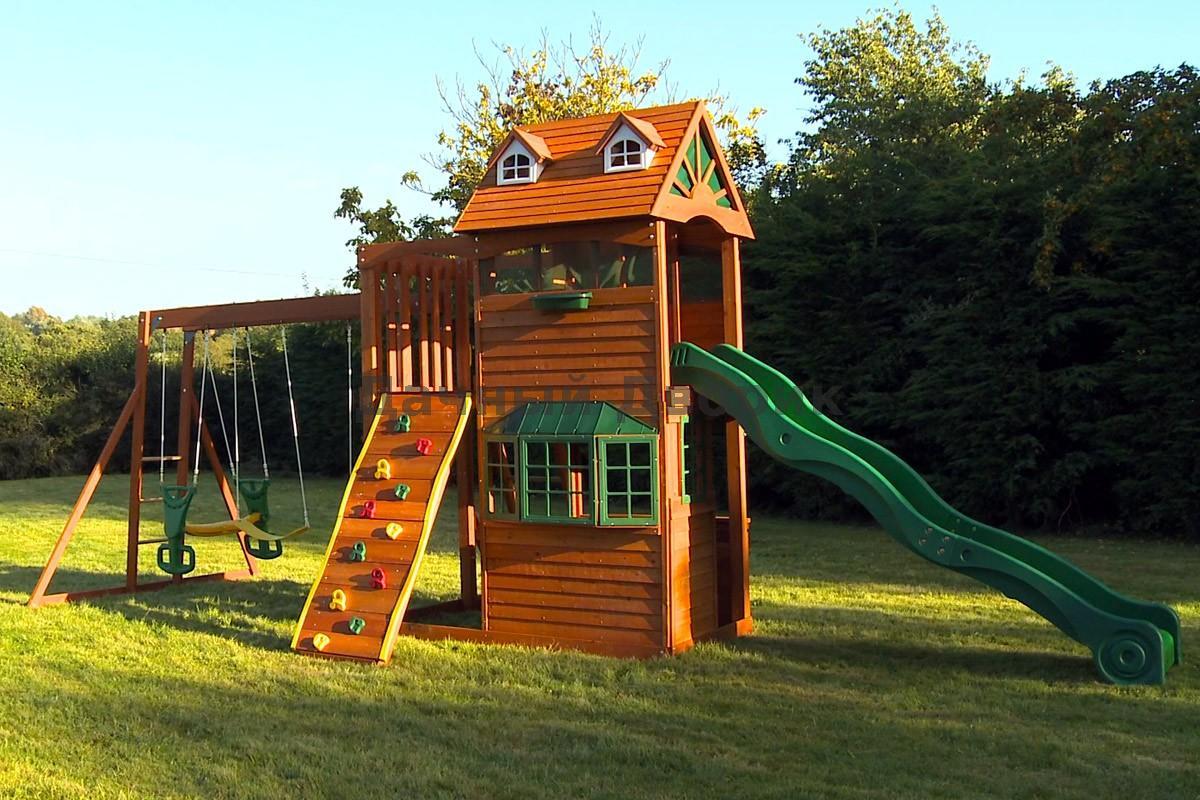 Деревянные детские горки для дома своими руками фото 59