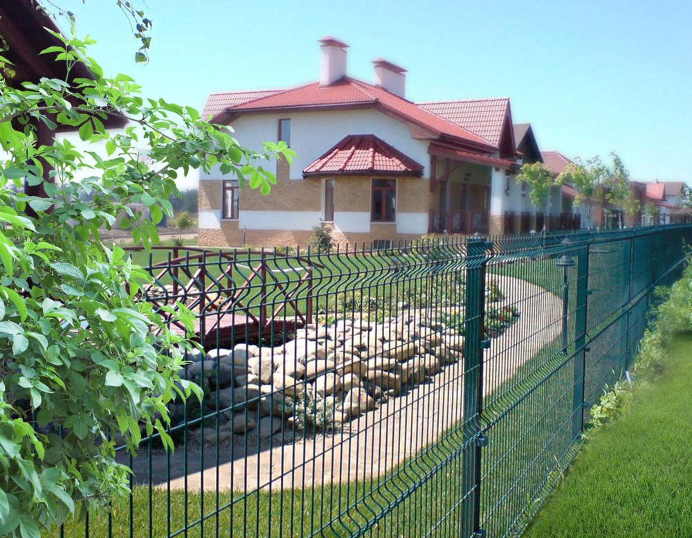 Забор из сетчатого ограждения
